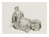 Jeune femme assise à terre Giclée-tryk af Jean Antoine Watteau