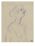 Yvette Guilbert en buste Lámina giclée por Henri de Toulouse-Lautrec