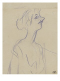 Yvette Guilbert en buste Lámina giclée por Henri Toulouse-Lautrec