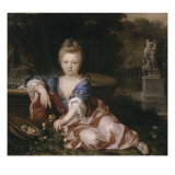 Portrait posthume d&#39;une jeune princesse de la Maison de France vers 1700-1710 - repr&#233;sent&#233;e en Reproduction proc&#233;d&#233; gicl&#233;e