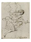 Un ange, de profil vers la droite ; Une demi-figure d'enfant tourné vers la gauche ; Une figure à Giclée-tryk af Guerchin Le