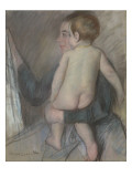 Young Woman Carrying a Naked Child or at the Window Giclee Print by Mary Cassatt