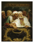 Mohammed Temin, ambassadeur du Sultan du Maroc, assistant à un spectacle dans une loge de la Giclée-tryk af Antoine Coypel