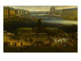 Vue perspective No.2 de la Seine de Paris sur le palais du Louvre, depuis le Pont Neuf vers 1666 Giclee Print
