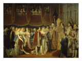 Mariage religieux de Napoléon Ier avec l'archiduchesse Marie Louise, 2 avril 1810 dans le salon Giclee Print by Georges Rouget