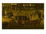 Vue perspective No.9 de la Seine de Paris sur le palais du Louvre, depuis le Pont Neuf vers 1666 Giclee Print
