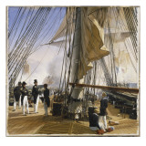 La Flotte française est commandée par l'amiral Roussin. Salle de Constantine Giclée-Druck von Horace Vernet
