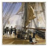 La Flotte française est commandée par l'amiral Roussin. Salle de Constantine Giclee Print by Horace Vernet