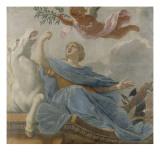 L'Europe (provenant du plafond de la Salle du Conseil, dans l'appartement d'Anne d'Autriche au Giclee Print by Michel Dorigny