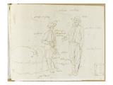 Album : Homme fumant une longue pipe, et un jeune homme près d'un ballot Giclée-Druck von Joseph Vernet