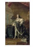 Portrait en pied vers 1723-1729 en grand manteau royal Giclée-Druck von Jean Baptiste Van Loo