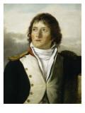 En uniforme de capitaine au 1e bataillon de chasseurs de Paris en 1792 Giclee Print by Georges Rouget
