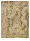 Two Naked Men Carrying Dead Bodies, Another Man Left Giclee Print by  Baccio
