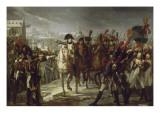 Sur le pont de Lech, à Augsbourg le 12 octobre 1805. Giclée-tryk af Pierre Gautherot