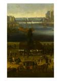 Vue perspective No.4 de la Seine de Paris sur le palais du Louvre, depuis le Pont Neuf vers 1666 Giclee Print