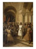 Godefroy de Bouillon, duc de Basse-Lorraine, choisi comme chef par les barons Francs à Jérusalem, Giclee Print by Federico de Madrazo y Kuntz