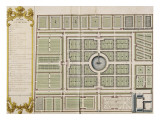 Recueil des &quot;Plans des ch&#226;teaux et jardins de Versailles en 1720&quot; ; Compos&#233; pour Louis-Antoine de Reproduction proc&#233;d&#233; gicl&#233;e par Jean Chaufourier