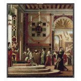 Copie d'aprs Carpaccio (la lgende de sainte Ursule, Venise, Acadmie) Gicle-tryk af Vittore Carpaccio