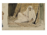 Jeune arabe dans son appartement ou Marocain en blanc ou Jeune chef marocain; 1832 Giclee Print by Eugene Delacroix