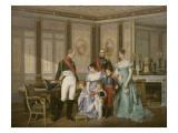 L'impératrice Joséphine reçoit à la Malmaison la visite du Tsar Alexandre Ier, à qui elle Giclée-Druck von Jean Louis Victor Viger du Vigneau