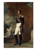 Le duc de Saxe-Cobourg Gotha, L&#233;opold Ier Roi des belges en 1831 repr&#233;sent&#233; Reproduction proc&#233;d&#233; gicl&#233;e par Franz Xaver Winterhalter