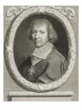 François de Harlay de Champvallon, abbé de Jumièges en 1660, Archevêque de Rouen en 1651 puis de Giclee Print by Robert Nanteuil