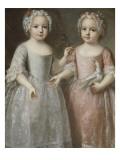 Louis Elisabeth de France (future duchesse de Parme) (1727-1759), représentée tenant un rameau Giclee Print by Pierre Gobert