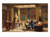 """La Répétition du """"Joueur de Flûte..."""" et de """"la Femme de Diomède"""" dans l'atrium de la Maison Giclee Print by Gustave Clarence Rodolphe Boulanger"""