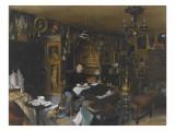 Charles Sauvageot dans son appartement du 56 rue du faubourg Poissonnière Giclee Print by James Roberts