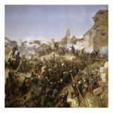 Episode de la conquête de l'Algérie en 1837, second siège de Constantine pa Giclée-Druck von Horace Vernet