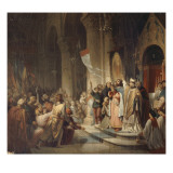 Boniface II, marquis de Montferrat, proclam&#233; chef de la 4&#232;me croisade dans l&#39;&#233;glise Notre-Dame de Reproduction proc&#233;d&#233; gicl&#233;e par Henri Decaisne