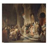 Boniface II, marquis de Montferrat, proclamé chef de la 4ème croisade dans l'église Notre-Dame de Giclee Print by Henri Decaisne