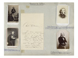Album Disd&#233;ri n&#176;6 page 15 Hommes de lettres 103-Ars&#232;ne Houssaye 1815-1896 104-Ars&#232;ne Houssaye Reproduction proc&#233;d&#233; gicl&#233;e par Gaspard F&#233;lix Tournachon