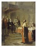 Henri IV préside l'Assemblée des Notables réunie dans la grande salle de l' Giclee Print by Georges Rouget