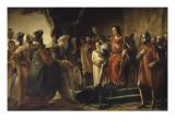 """Saint-Louis reçoit à Saint-Jean d'Acre (Ptolémaïs) les envoyés de Rachid el Din Sinan, dit """"le Giclee Print by Georges Rouget"""
