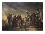 Henri IV devant Paris assiégé, donnant sa bourse aux paysans qui avaient entré des vivres dans la Giclee Print by Georges Rouget