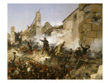 Episode de la conqu&#234;te de l&#39;Alg&#233;rie en 1837, second si&#232;ge de Constantine pa Reproduction proc&#233;d&#233; gicl&#233;e par Horace Vernet