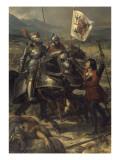 Bataille de Fornoue, près de Parme, remportée par Charles VIII sur l'armée des Confédérés Giclee Print by Eloi Firmin Feron