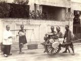 China, Wheelbarrow Transport and Pedlars Lámina fotográfica