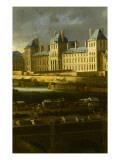 Vue perspective No.6 de la Seine de Paris sur le palais du Louvre, depuis le Pont Neuf vers 1666 Giclee Print