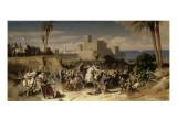 Reprise de Beyrouth occupée par les troupes du sultan Saladin, par Amaury de Lusignan (futur Lámina giclée por Alexandre Hesse