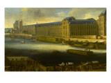 Vue perspective No.5 de la Seine de Paris sur le palais du Louvre, depuis le Pont Neuf vers 1666 Giclee Print