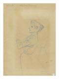 Jeune femme, vue à mi-corps, et croquis de sa silhouette Giclee Print by Théophile Alexandre Steinlen