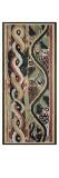 Tapisserie : 1er registre : torsade multicolore ; registre inférieur : rinceau de vigne (feuilles, Giclée-Druck