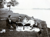 Picnic in 1900 Photographic Print