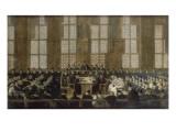 L'appel des évêques dissidents en Sorbonne le 5 mars 1717 refusant de recevoir la bulle du Pape Giclée-Druck von Nicolas Vleughels