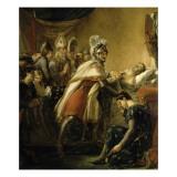 Mort de saint Louis devant Tunis au milieu des princes français et des envoyés de l'empereur de Giclee Print by Georges Rouget