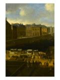 Vue perspective No.3 de la Seine de Paris sur le palais du Louvre, depuis le Pont Neuf vers 1666 Giclee Print