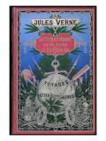 "Jules Verne, Cover of ""Around the World in 80 Days"" and ""Doctor Ox"" Giclée-Druck von Jules Verne"