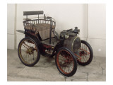 Voiturette Renault ; carrosserie du type Tilbury, moteur monocylindrique &#224; ailettes de 1 3/4 CV Reproduction proc&#233;d&#233; gicl&#233;e